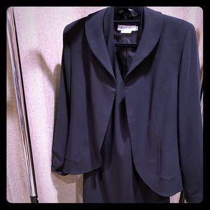 Cocktail halter dress with crop jacket